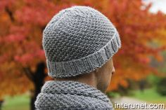 How to knit a hat for a man (pattern and 20 min YouTube video demo)