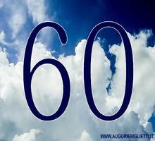 biglietti di auguri per i 60 anni