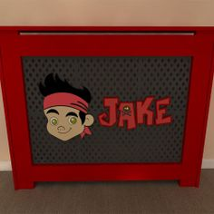 Jake and Neverland Pirate inspired themed radiator covers available painted or unpainted - purchase unpainted and let your children help you paint - Add your own personal touch www.bdichildrensfurniture.co.uk