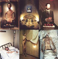 David Nebreda, âmes sensibles s'abstenir, le travail de cet artiste ayant été diagnostiqué schizophrène à l'age de 19 ans est d'une grande violence. A travers la photographie il témoigne de son rapport au corps et de sa maladie..