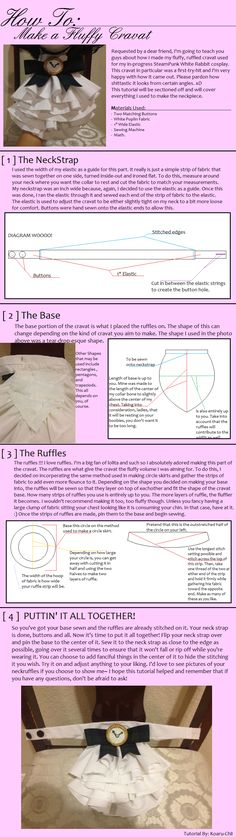 Fluffy Cravat Tutorial by ~Koaru-chii on deviantART steampunk lolita alice in wonderland white rabbit