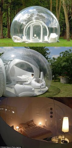 Transparent bubble tent puts campers under the stars
