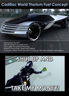 Lord Vader, your car is ready.