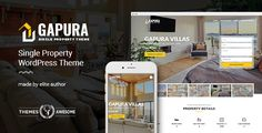 Buy Single Property WordPress Theme - Gapura by themesawesome on ThemeForest. Gapura Single Property WordPress Theme Gapura Single Property WordPress Theme provides Multi-Pages Version that very . Wordpress Theme Design, Best Wordpress Themes, Blog Design, Page Design, Template Site, Templates, Theme Forest, Responsive Layout, Creating A Blog
