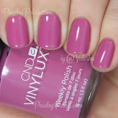 CND VINYLUX Crushed Rose | Summer 2015 Garden Muse Collection | Peachy Polish - oh wow #pink