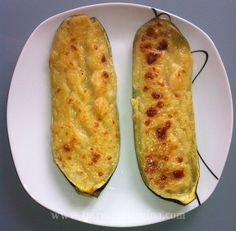 Calabacines rellenos de gambas - Atıştırmalıklar - Las recetas más prácticas y fáciles Nut Recipes, Other Recipes, Sweet Recipes, Real Food Recipes, Salad Recipes, Dessert Recipes, Cooking Recipes, Yummy Food, Healthy Recipes