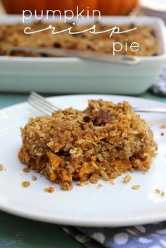 Pumpkin Crisp Pie Recipe on Yummly. @yummly #recipe