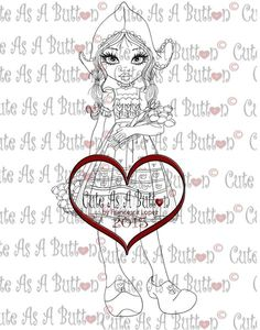 retired cute as a button digi stamps   IMG00182 Wooden Shoes Digital Digi Stamp – Cute As A ...