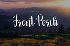 Brush Script Font: Front Porch by Holly McCaig Creative on Hand Lettering Styles, Chalk Lettering, Hand Lettering Alphabet, Hand Lettering Quotes, Lettering Design, Pretty Fonts, Beautiful Fonts, Cool Fonts, Script Type