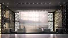 New lobby rendering of Harbour Plaza showing the impressive concierge desk.