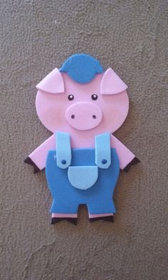Pig Crafts, Felt Crafts, Crafts For Kids, Felt Finger Puppets, Hand Puppets, Body Parts Preschool, Finger Puppet Patterns, Sewing Stuffed Animals, String Art Patterns