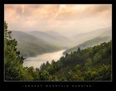 """""""Smoky Mountain Morning"""" - Fontana Lake, NC"""
