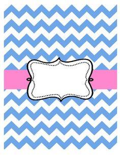 Free Chevron Binder Cover Pink and Blue Chevron Binder Covers, Binder Covers Free, Teacher Planner, Teacher Binder, Printable Labels, Printable Paper, Binder Organization, Classroom Organization, Paper Folder