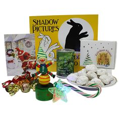 Shadow Pictures Book and Reindeer Kisses cookies Christmas Packages, Shadow Pictures, Kiss Cookies, Pre Christmas, The Elf, Fun Games, Kisses, Reindeer, Best Gifts