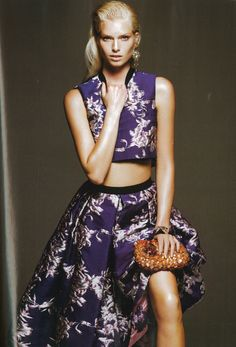Marie Claire, December Issue, Brocade Crop Top/ Brocade Skirt