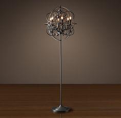 Iron Sphere Floor Lamp | Soft surroundings, Floor lamp and Wax candles