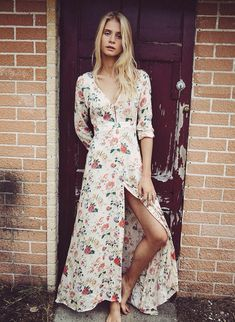 floral dress // thebohogarden