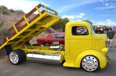 1940 Ford COE. I'd like some taller sidewalls, and not yellow, but the stance and mid engine set up are perfect.