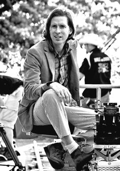 .Wes Anderson on the set of Moonrise Kingdom (2012)