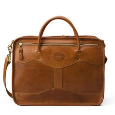 J.W. Hulme Overnight bag in Saddle Heritage brown leather $990