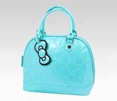An image of Hello Kitty Mint Handbag: Embossed,this is SUPPER cute!!