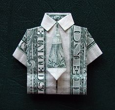 Dollar shirt origami
