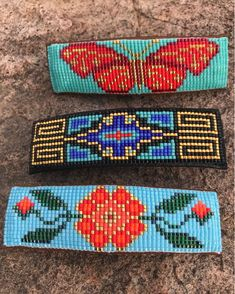 Items similar to Red and Gold Beaded Butterfly on a Turquoise Background. Hand Made by the Artist. Made to Order Piece on Etsy Native Beading Patterns, Beaded Necklace Patterns, Bracelet Patterns, Bead Loom Designs, Bead Loom Patterns, Beaded Braclets, Bead Loom Bracelets, Loom Craft, Motifs Perler