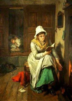 Obra de Thomas Faed (Reino Unido, 1826-1900)