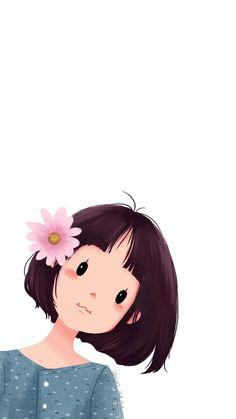 Cute Cartoon Pictures, Cute Cartoon Drawings, Girly Drawings, Cartoon Art Styles, Frida Art, Cute Girl Wallpaper, Digital Art Girl, Cute Cartoon Wallpapers, Cute Illustration