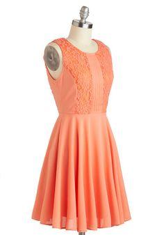 Apricot Dahlia Dress, #ModCloth  http://www.modcloth.com/shop/dresses/apricot-dahlia-dress