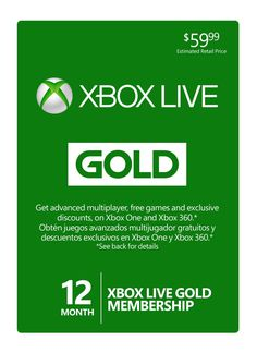 FREE Games for XBOX 360 & ONE Each Month with Xbox Live Gold