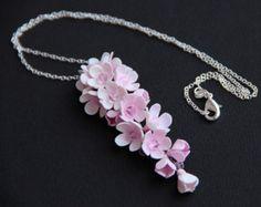Colgante de flores flor de la arcilla de polímero por JewelryFloren