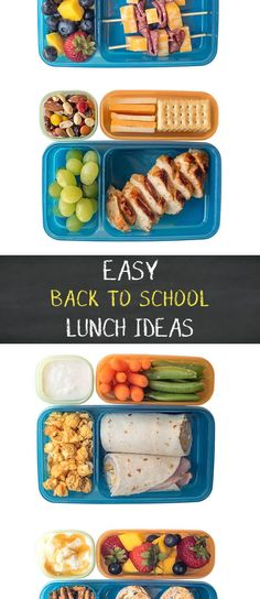 A whole week full of no-sweat Back to School Lunch Ideas you can make in 5 minutes or less!