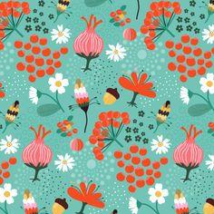 pattern autumnfloral Tjarda