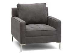 MIAMI - Armchair - Grey; take my 2 big chairs and recover with gray w/exposed legs!