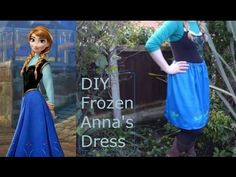 Frozen Anna: DIY Outfit - Extremely little sewing, glue used instead.