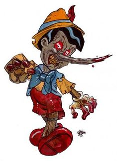 New Zombie Art : Pinocchio Zombie! - Zombie Art by Rob Sacchetto. This is the newest Zombie Drawing of the day here on Zombie Daily! Zombie Disney, Creepy Disney, Disney Horror, Horror Cartoon, Zombie Cartoon, Evil Disney, Dark Disney, Zombie Kunst, Art Zombie