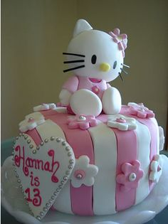 Hello Kitty Cake!!OMG! this would be perfect for my next bday!!! @Dana Cebolski Hook a girl up!!!! I know you have baking skills. :) I will take it for Christmas too