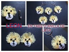 LEON EN UN TABS O ANILLA DE LATA - YouTube Recycled Crafts, Diy And Crafts, Pop Top Crochet, Pop Can Tabs, Fete Ideas, Chainmaille, Christmas Jewelry, Craft Fairs, Crochet Earrings