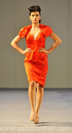 Pilar Macchione Couture Fashion Show New York 2013 Collection Printemps 2013 #pilarmacchione #mode #fashion #women #femmes #printemps2013 #newyork #couturefashionshow #couture #orange