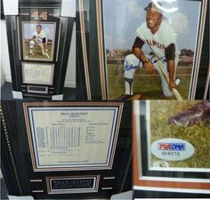 """Willie McCovey San Francisco Giants Signed 8x10 Photo Framed With Stats PSA COA . $175.00. San Francisco Giants 1st BasemanWillie McCoveyHand Signed 8x10"""" Color PhotographProfessionally Matted and FramedIn a 17x28"""" Black Framewith Stat Sheet.GREAT AUTHENTIC BASEBALL COLLECTIBLE!!AUTOGRAPHAUTHENTICATED BY PSA DNA AUTHENTICATIONS WITH NUMBERED PSA DNA STICKER OF AUTHENTICITY ON THE ITEM AND A MATCHING PSA DNA CERTIFICATE OF AUTHENTICITY (COA) INCLUDED WITH ITEM.PSA DNA CO..."""