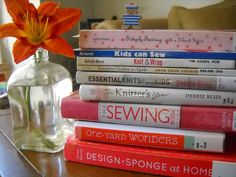 Book stack for inspiration