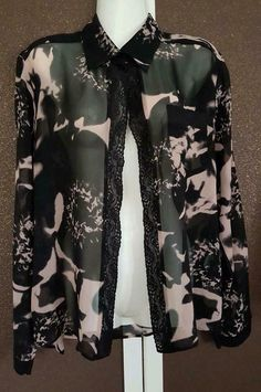 ≥ Zijde blouse KARL LAGERFELD for H&M maat 44 - Merkkleding | Blouses en Tunieken - Marktplaats.nl Karl Lagerfeld, Military Jacket, Blouse, Jackets, Fashion, Down Jackets, Moda, Field Jacket, Fashion Styles