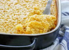 Corn Pudding is a classic side dish that is most beloved in the American south - creamed corn in a sweet and fluffy custard. Corn Pudding Casserole, Corn Pudding Recipes, Creamed Corn Recipes, Homemade Cream Corn, Food Dishes, Side Dishes, Barefeet In The Kitchen, Southern Recipes, Southern Food