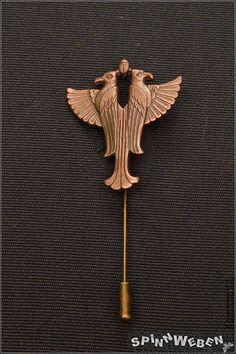 Neu Dieselpunk Doppel-Adler Krawattennadel  Metall bronze