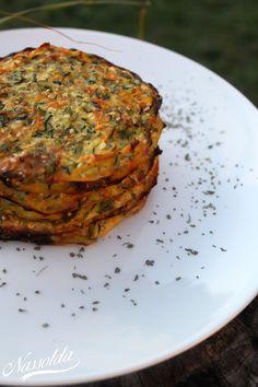 Sült zöldségsaláta (tócsni) Ratatouille, Vegetable Recipes, Quiche, Vegetables, Breakfast, Ethnic Recipes, Food, Morning Coffee, Essen