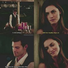 "#TheOriginals 4x03 ""Haunter of Ruins"" - Hayley and Elijah❤ This just shoes how much they are perfect for each other❤❤"