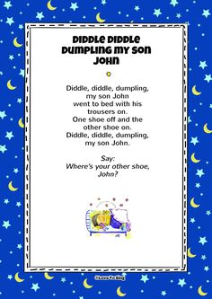Diddle Diddle Dumpling My Son John Nursery Rhymes Video Songs, Kids Video Songs, Free Nursery Rhymes, Kids Videos, Kindergarten Songs, Preschool Songs, Silly Songs, Baby Songs, Row Your Boat Lyrics