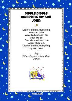 Diddle Diddle Dumpling My Son John Nursery Rhymes Video Songs, Kids Video Songs, Kids Nursery Rhymes, Rhymes For Kids, Kids Videos, Kindergarten Songs, Preschool Songs, Silly Songs, Baby Songs
