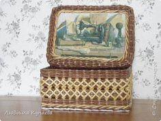 Поделка изделие Плетение Великолепие бумажного плетения Бумага газетная Трубочки бумажные фото 10
